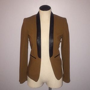 H&M Blazer with leather detail Size 4